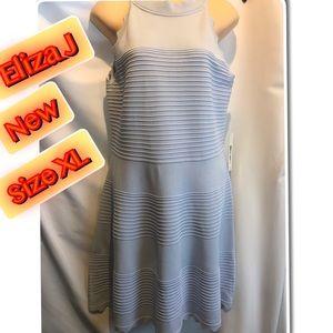 Eliza J Women's Blue sleeveless Stretch Dress XL